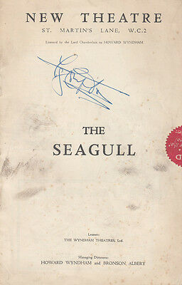 The Seagull John Gielgud Hand Signed Antique St Martins London Theatre Programme