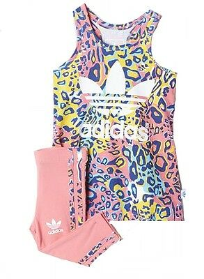 Adidas Girls INFANT Soccer Dress leggings 2pc Ai9999 PINK/MULTI 9-12m to 5-6yrs