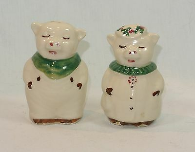 Vintage SHAWNEE Smiley and Winnie PIG Salt and Pepper Shakers S&P Green