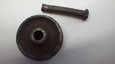 "RARE 1/2"" Original Antique SINGER Treadle Sewing Machine Caster Wheel & Pin"