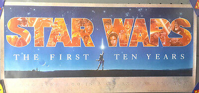 "Original Vintage Star Wars 10th Anniversary Poster  16.5"" 36"" Rolled (MFPO-24)"