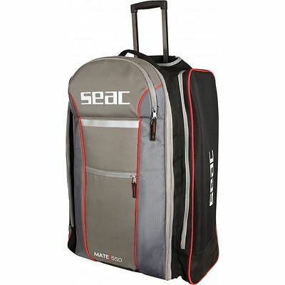 Seac Mate 550 HD - Travel Trolley Dive Scuba Snorkel Holiday Bag - Strong Sturdy