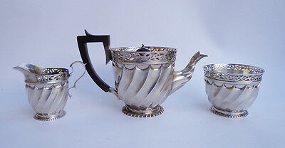 Victorian c.1896 Solid Silver Teapot by James Wakely & Frank Clarke Wheeler