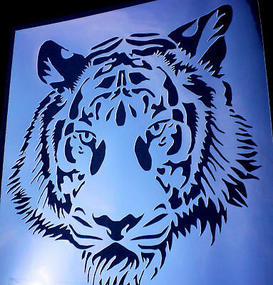high detail airbrush stencil tiger face FREE UK  POSTAGE