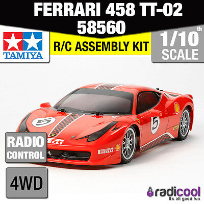 58560 TAMIYA FERRARI 458 CHALLENGE NEW TT-02 1/10th R/C RADIO CONTROL 1/10 CAR