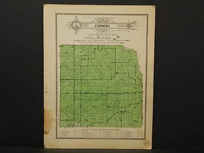 Illinois Fulton County Map Farmers Township  1916 W7#27