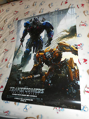 """Mark Wahlberg TRANSFORMERS THE LAST KNIGHT movie poster DS 27x40"""" Optimus Prime"""