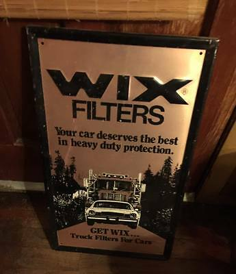 Vintage 70's Wix Filters Aluminum Embossed Advertising Sign ''rare''