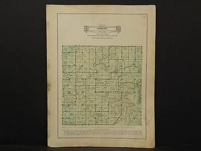Minnesota Blue Earth County Map Sterling Township 1929 W7#45