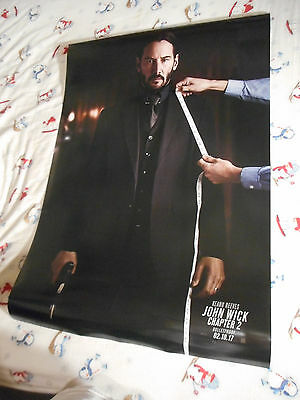 "Keanu Reeves JOHN WICK CHAPTER 2 original movie poster DS 27""x40"" New 2016"