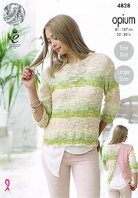Knitting Pattern King Cole 4828 Opium Chunky Lady's Top