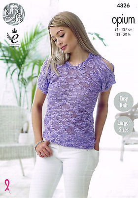 Knitting Pattern King Cole 4826 Opium Chunky Top