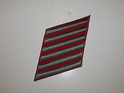 b9612-6 Korean War USMC Long Service Stripes Green on Red L&R Pair 24 Years R6T