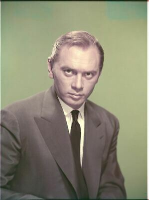 YUL BRYNNER rare studio portrait with hair Original 8x10 inch Photo TRANSPARENCY