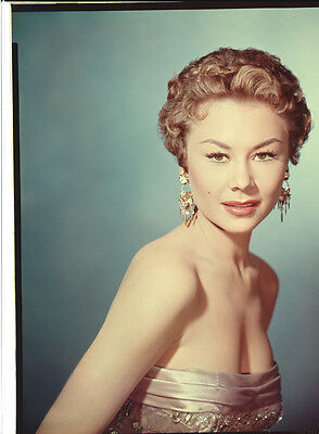 MITZI GAYNOR busty exotic pin up glamour photo Original 8x10 TRANSPARENCY Slide