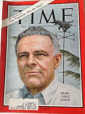 Time Magazine Henry Cabot Lodge May 15, 1964 050417nonrh