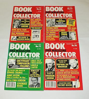 Book and Magazine Collector Issues 61 64 72 & 90 1989 - 1991 Snooker Du Maurier