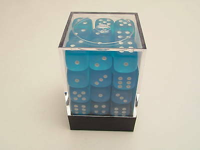 Chessex Frosted Caribbean Blue 36 12mm 6-Sided Dice Set