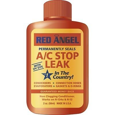 49496 Red Angel Permanent seal A/C Air Conditioner Stop Leak UV Dye R134A R12