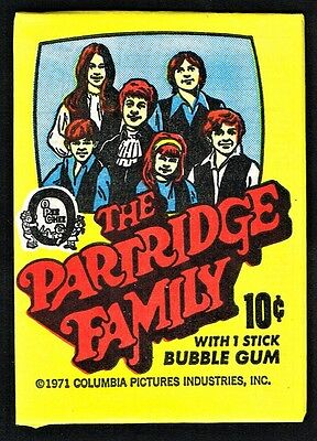 1971 TOPPS PARTRIDGE FAMILY (Yellow & BLUE) 2 COMP.SETS W WRAPPER *PACK FRESH