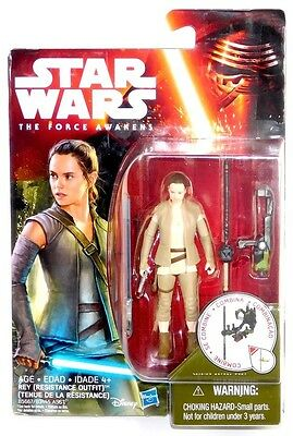 "Star Wars Force Awakens Forest Gear Rey (Resistance Outfit) 3.75"" Figure!"
