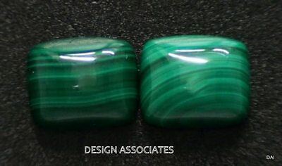 Malachite Cabochon 12X10 Mm Emerald Cut Great Green Color High Dome Top One Pc.