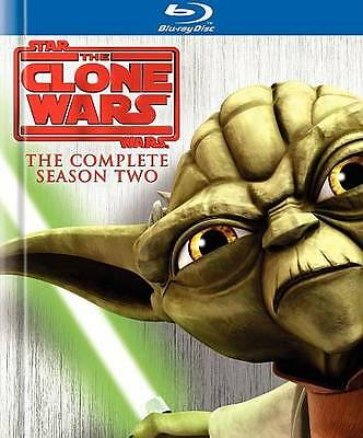 Star Wars: The Clone Wars The Complete Season Two (Blu-ray Disc 3-Disc Set) NEW