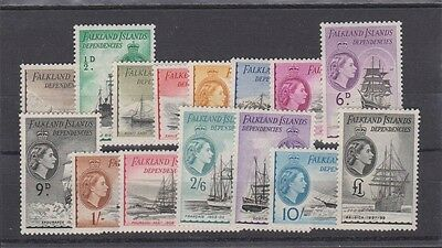 FALKLAND ISLANDS Dependencies IL19-33 QEII 1954 set
