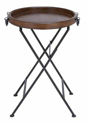 Deco 79 50470 Metal Wood Tray Table  20-Inch by 28-Inch