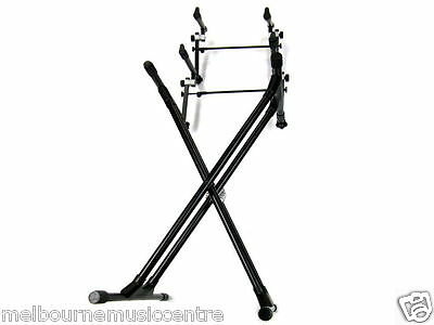 MMC 3 TIER TRIPLE KEYBOARD STAND Ideal Studio/Stage *H/Duty Stand & Tiers* NEW!