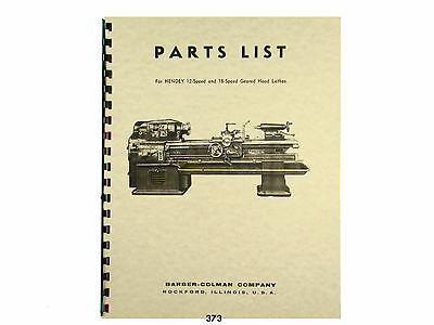 Hendey  Lathe Attachments and Accessories Manual  *1034