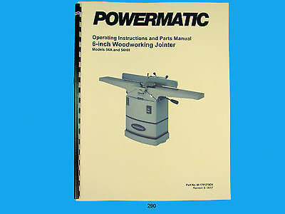 "Powermatic Model 54A & 54HH""  Jointer Operating Instruction & Parts Manual *290"