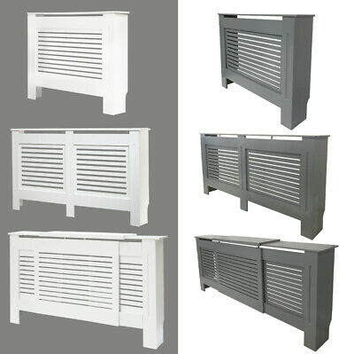 Modern Radiator Cover Wall Cabinet MDF Horizontal Slats All Sizes