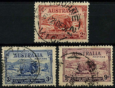 Australia 1934 SG#150-2 Capt. John Macarthur Sheep, Ram Used Set #D48704