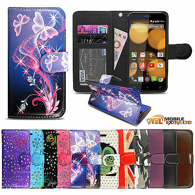 Luxury Wallet Book Flip Stand Leather Case Cover For Argos Bush Spira Models