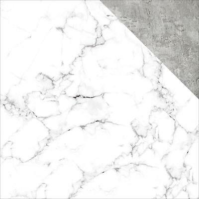 """Kaisercraft Basecoat IV - WHITE MARBLE - 12x12"""" D/sided Scrapbooking Paper"""