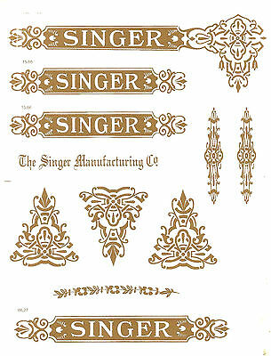 Singer Model 27/127 Celtic Style  Sewing Machine  Restoration Decals