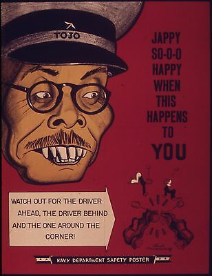USA World War 2 Poster Jappy So Happy Navy Department 10x8 Inch Reprint