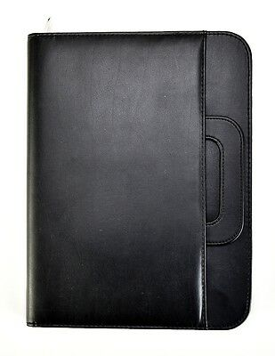 Black A4 Soft Touch Conference Folder Professional Portfolio With handle CL-835