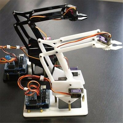 4 DOF MiniArm Mechanical Robotic Arm Clamp Claw Mount Robot With Arduino UNO R3