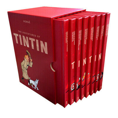 Complete Adventures of Tintin Collection 8 Books Box Set Pack by Herge NEW [HB]
