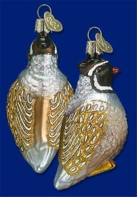 Partridge Old World Christmas Glass Bird 12 Days Of Christmas Ornament Nwt 16012
