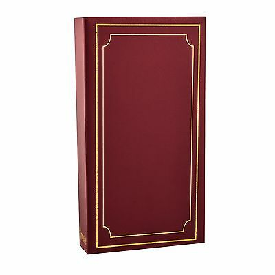 """Traditional Photo Album 6"""" x 4"""" with 300 Pockets Black, Blue or Burgundy - x 1"""