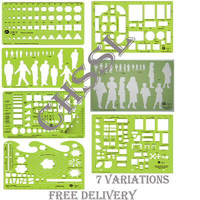 Jakar Stencils Templates Drawing Select From 7 Various Designs