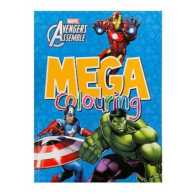 Licensed Marvel:Avengers Assemble/ Super Heroes Mega Colouring Book