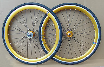 NOLOGO GOLD Single Speed wheelsets Fixed Fixie 700c flip-flop hub Wheelsetsz
