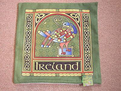 Celtic Peacock Cushion Cover, Large