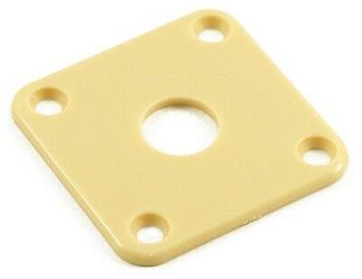 Jack Plate For Gibson Les Paul Guitar And Others (Cream) *new*