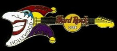 Hard Rock Cafe HOLLYWOOD 2004 April Fools Day GUITAR PIN Jester 300 - HRC #22306