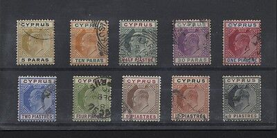 CYPRUS  48-54, 56-8 King Edward VII 1904-07 to 18 pi